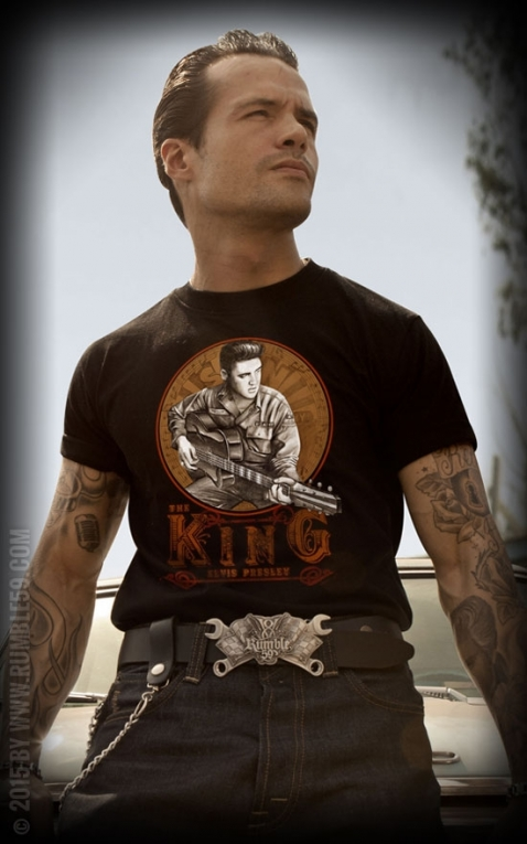 Rumble59 - Young Elvis Presley T- Shirt