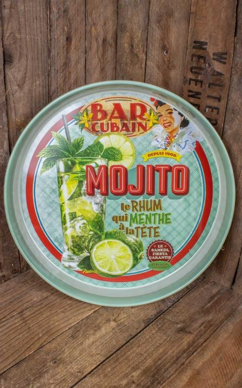 Round metal tray Mojito