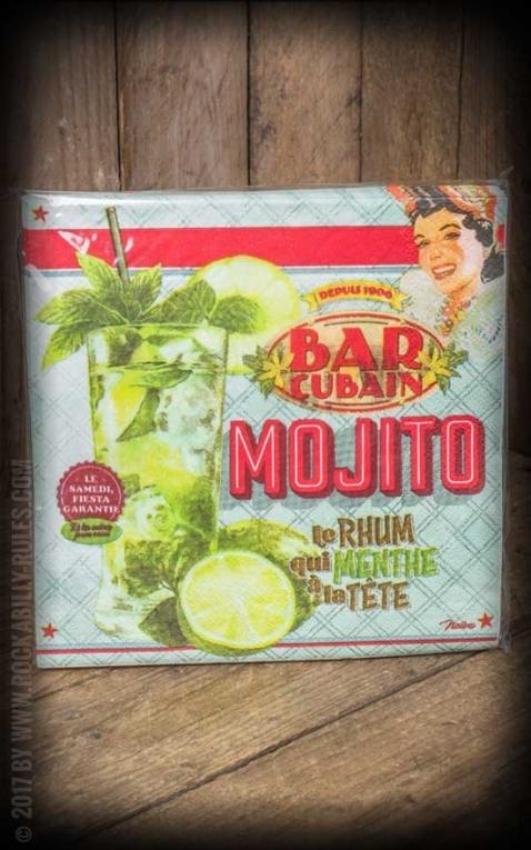 Retro Servietten aus Papier - Mojito