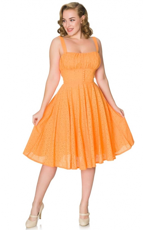 Sheen Clothing Été Robe Orange
