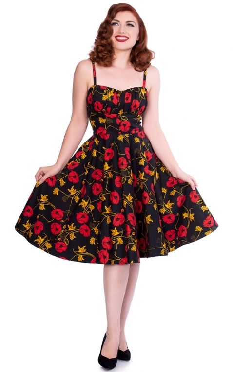 Sheen Clothing Swing Dress Flower Power Lexie
