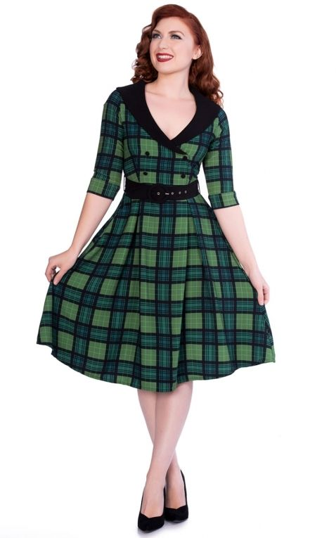 Sheen Clothing Swing Dress Poison Green Raakel