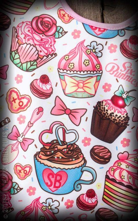 Six Bunnies - Bavoir Cupcakes