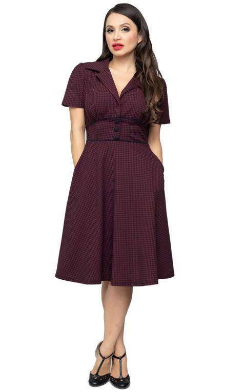 Steady Houndstooth Diner Dress Katherine