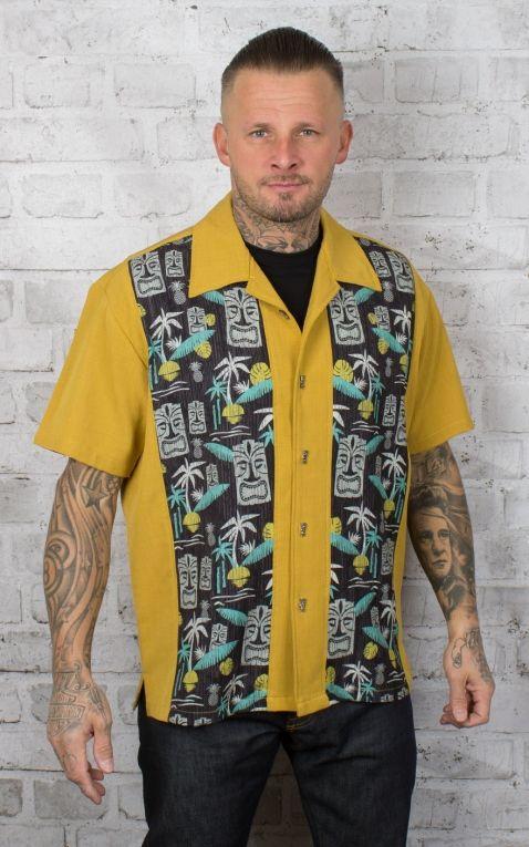 Steady Shirt - Tiki In Paradise, mustard