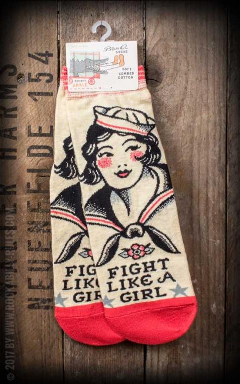 Socks Fight Like A Girl