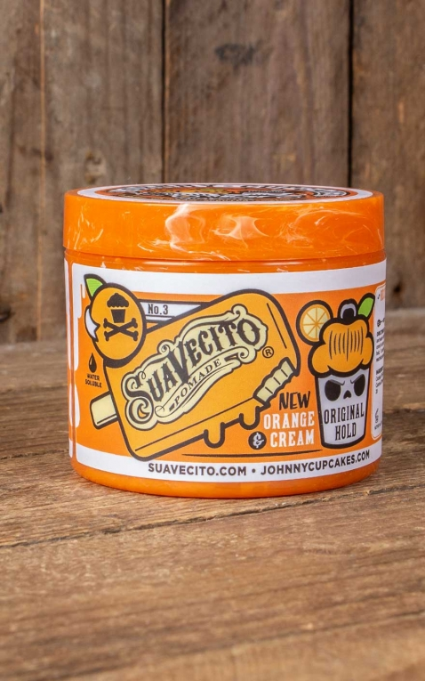 Suavecito Original Hold X Johnny Cupcakes Pomade Orange & Cream