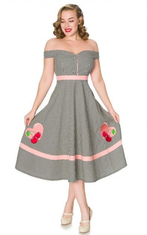 Timeless London Vintage Swing Kleid Heartbreaker