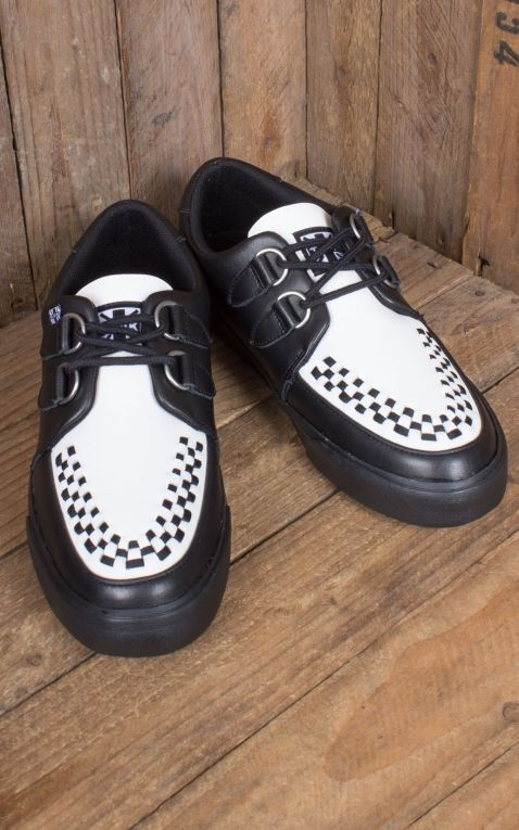 TUK VLK Creeper Sneaker Black & White D-Ring