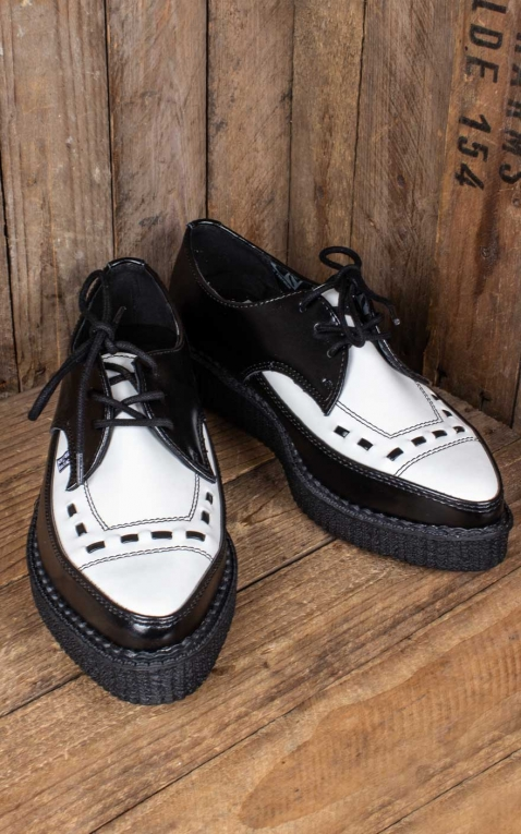TUK Creeper Black & White Smooth Pointed Tie