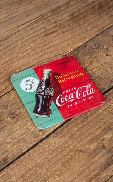 Untersetzer Coca-Cola - Delicious Refreshing Green