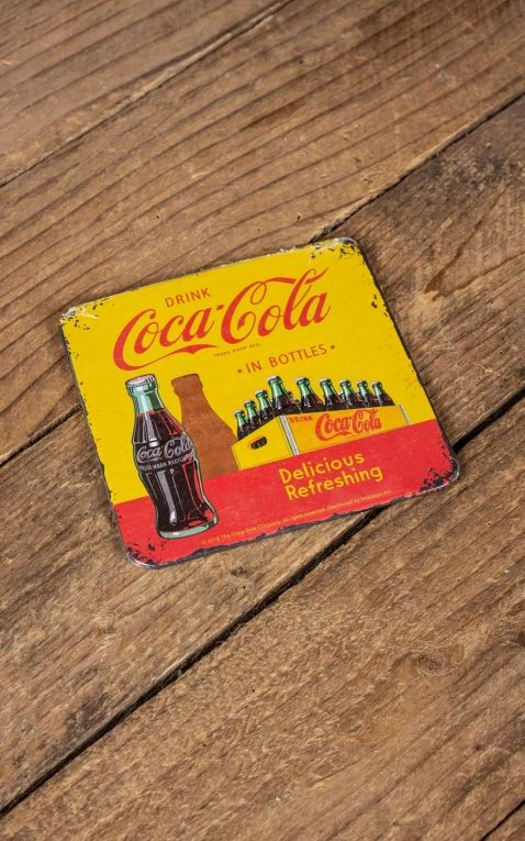 Coaster Coca-Cola - In Bottles Yellow