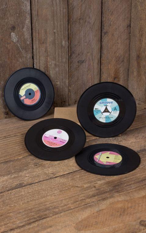 Sous-verre  Lot de 4 Vinyle Record