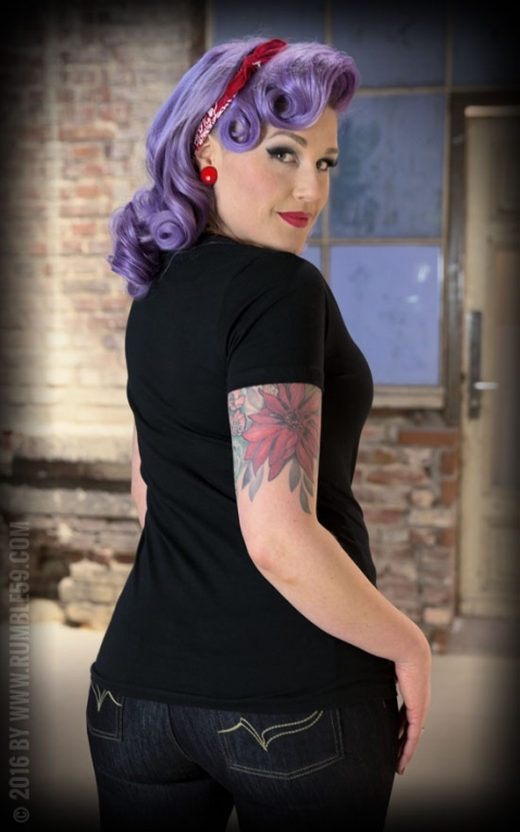 Rumble59 - Ladies V-Neck Shirt - Hotrod Bettys Speed Shop