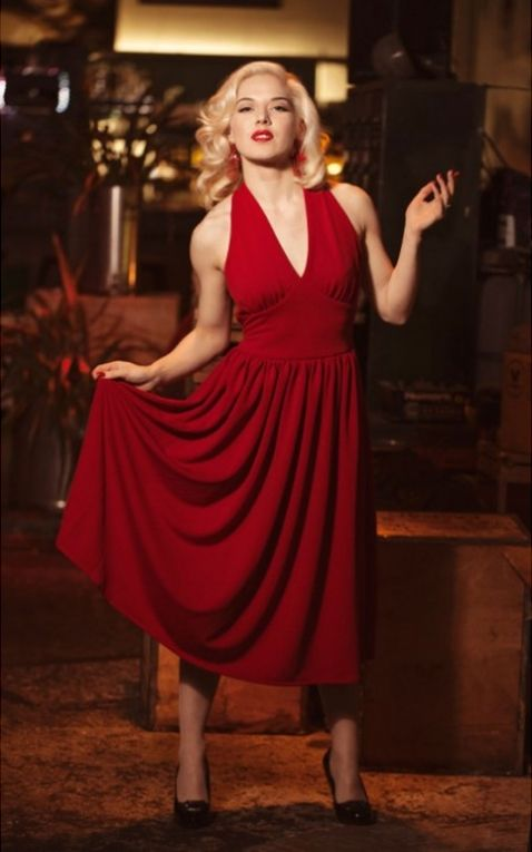Very Cherry Dress Marilyn Monroe, red