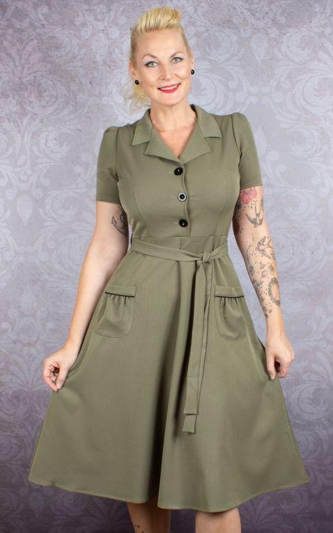 Very Cherry Revers Dress, olive