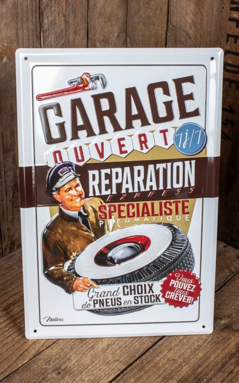 Vintage Tin-Plate Sign - Garage Reparation, 20 x 30 cm