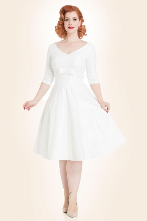 Voodoo Vixen Bridal Flared Dress Dorothy