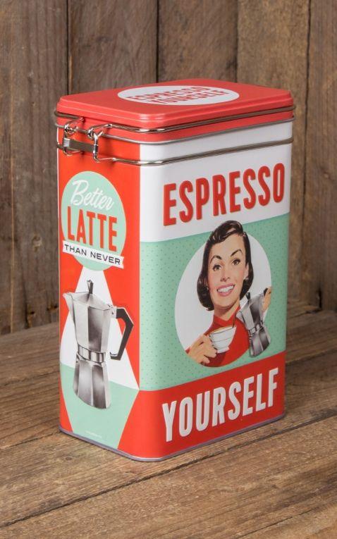 Storage Tin Espresso Yourself Rockabilly Rules