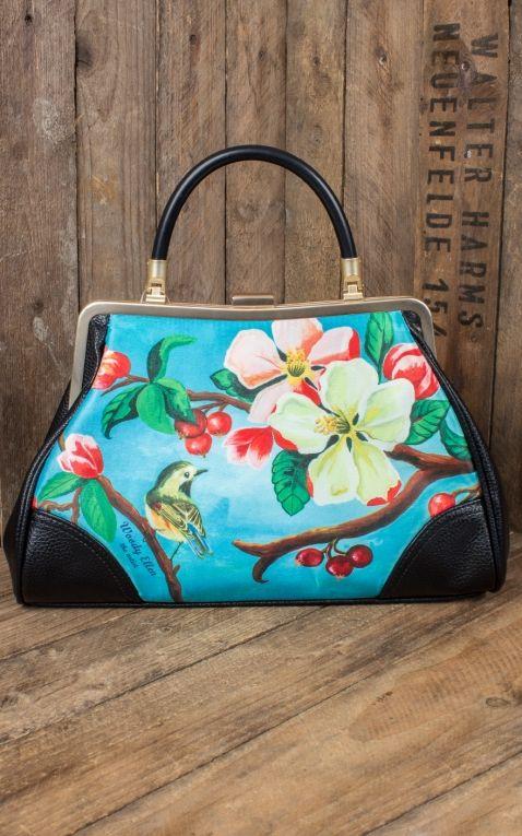 Woody Ellen Pin-Up Handtasche Blossom