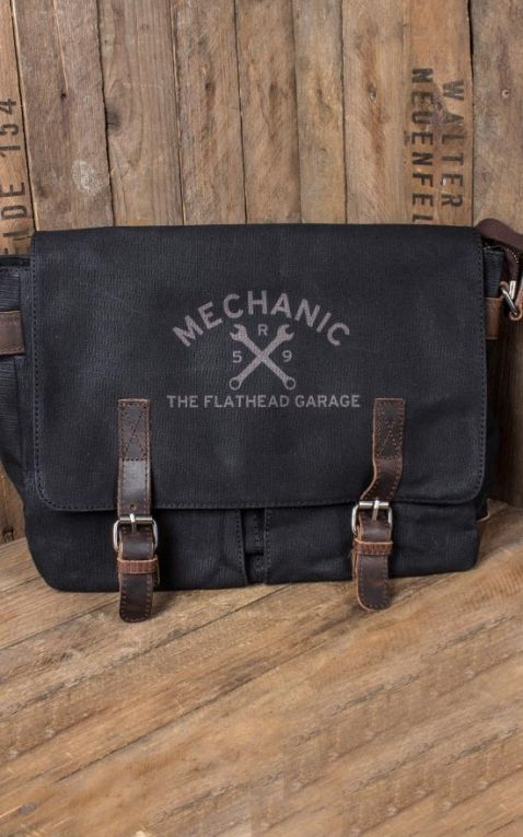 Rumble59 - Canvas Workerbag - The Flathead Garage - noir