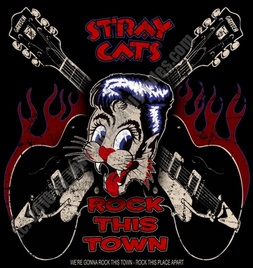 sweatshirt stray cats sweatshirt stray cats rock this town aus der ... Zoe Saldana