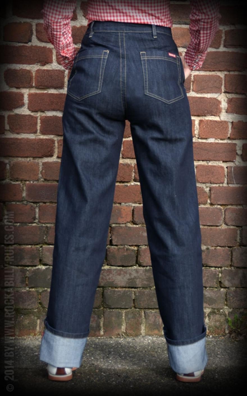 rumble59 marlene jeans bleu rockabilly rules. Black Bedroom Furniture Sets. Home Design Ideas