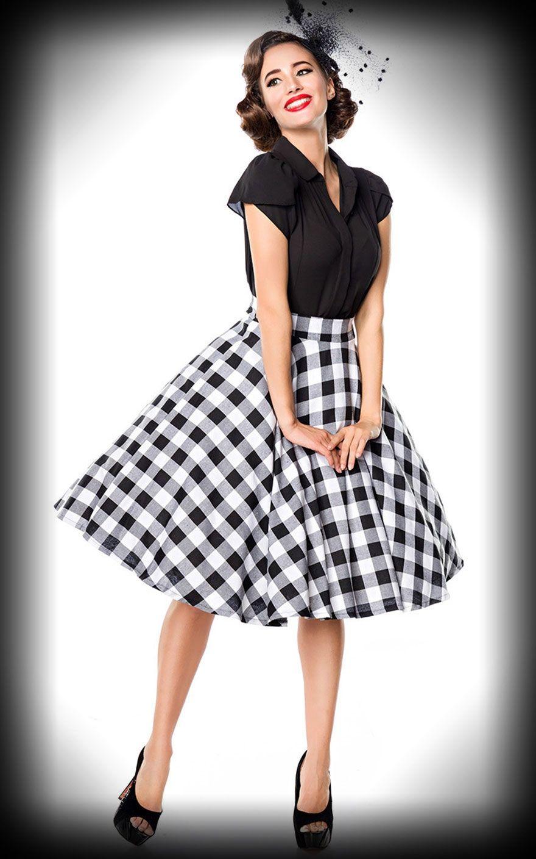 lindy bop jupe victoria noir blanche rockabilly rules. Black Bedroom Furniture Sets. Home Design Ideas