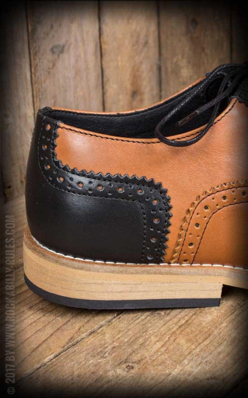 Budapester Schuhe, schwarz-braun | Rockabilly Rules