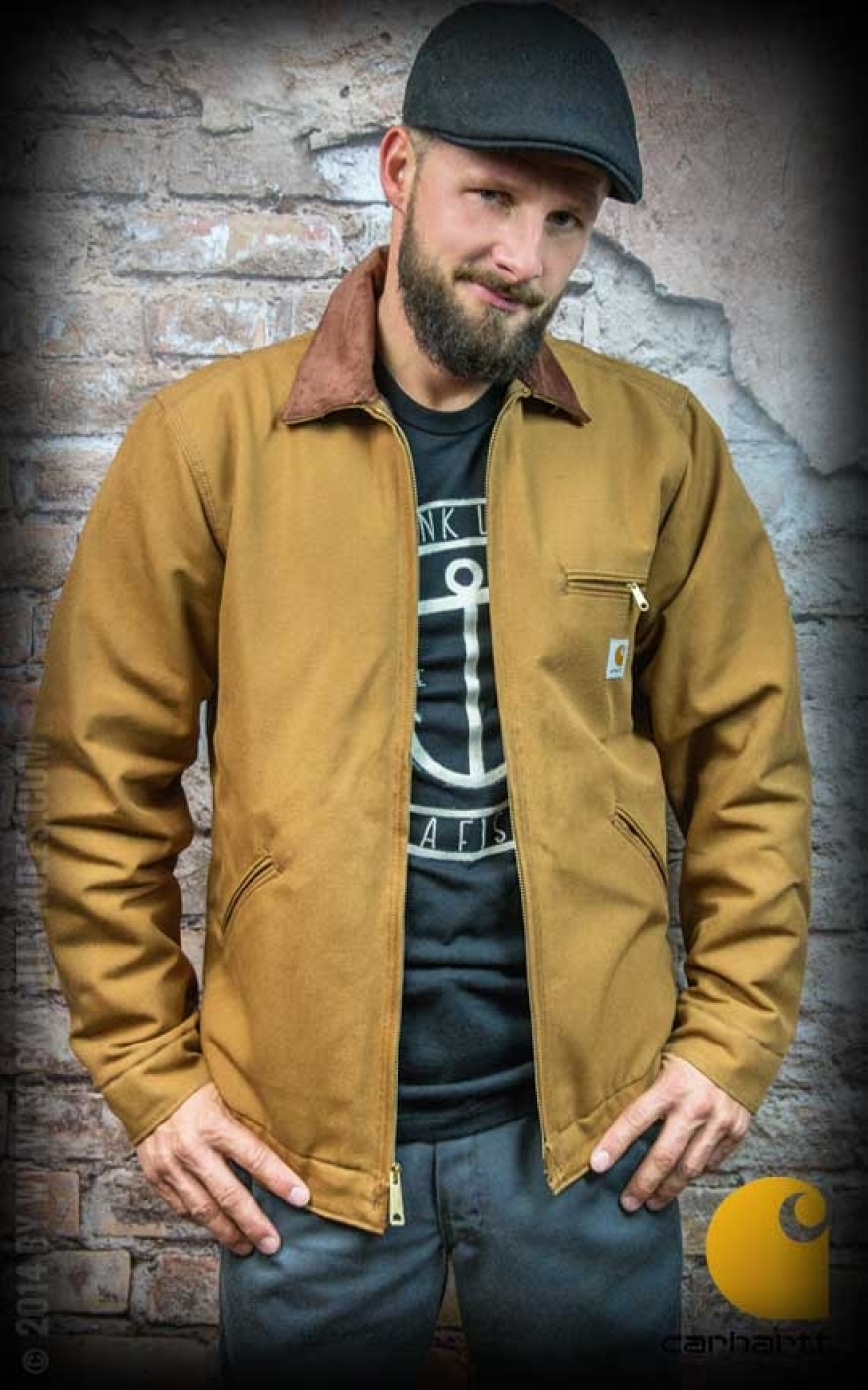 Carhartt Jacke Duck Detroit Braun Rockabilly Rules