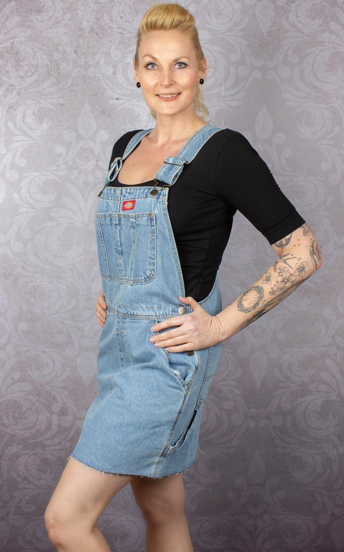 Dickies BibLight Rules Denim BleachRockabilly Hopewell Dress hCdrtsQ