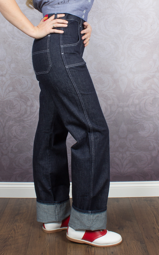 Freddies Of Pinewood 1950s Button Jeans Rockabilly Rules