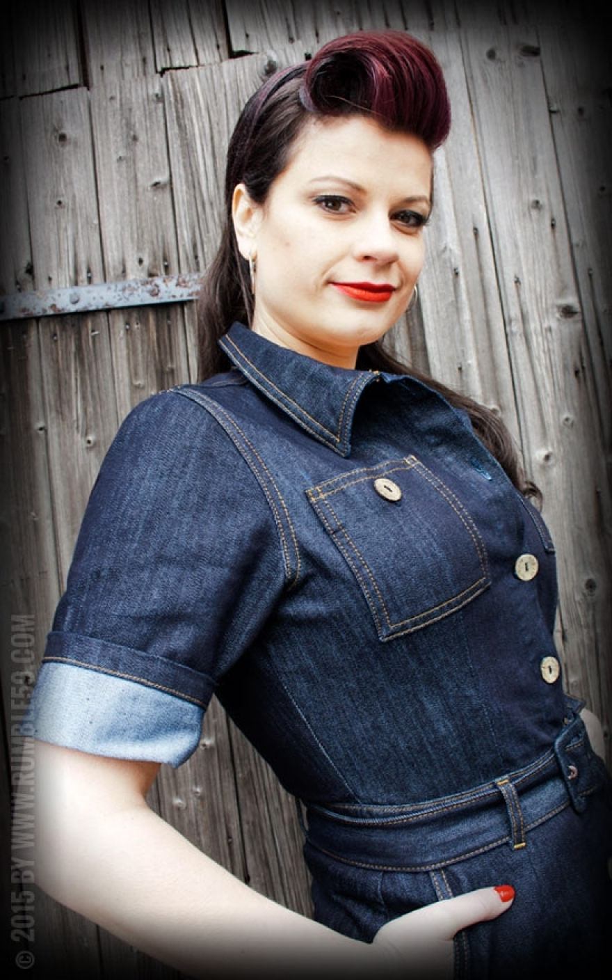 cd2f717a26ad65 Ladies Denim Dress by Rumble59 | Rockabilly - 50s Style