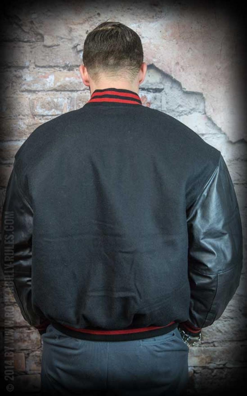 Jacket Leather Black Baseball Pure rCdxBoe