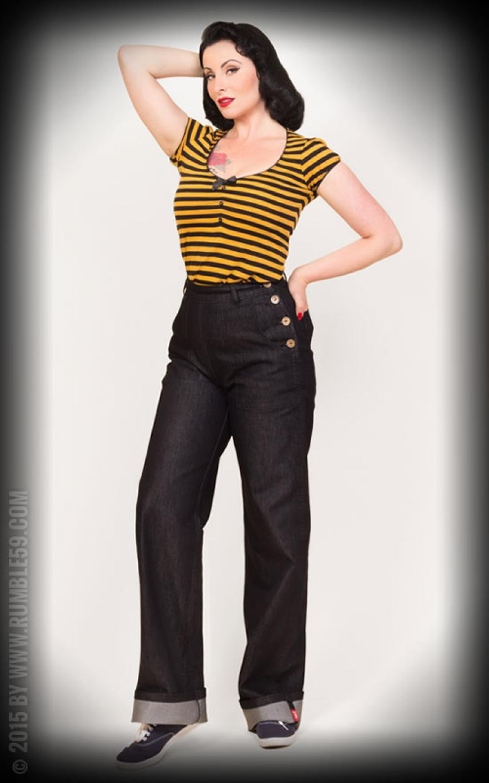 rumble59 black marlene jeans rockabilly rules. Black Bedroom Furniture Sets. Home Design Ideas