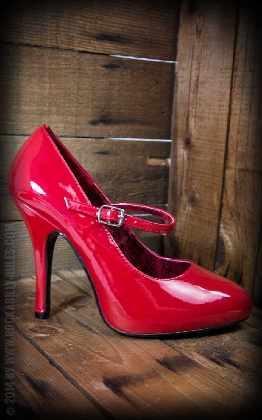 pleaser high heel mary janes rot rockabilly rules. Black Bedroom Furniture Sets. Home Design Ideas