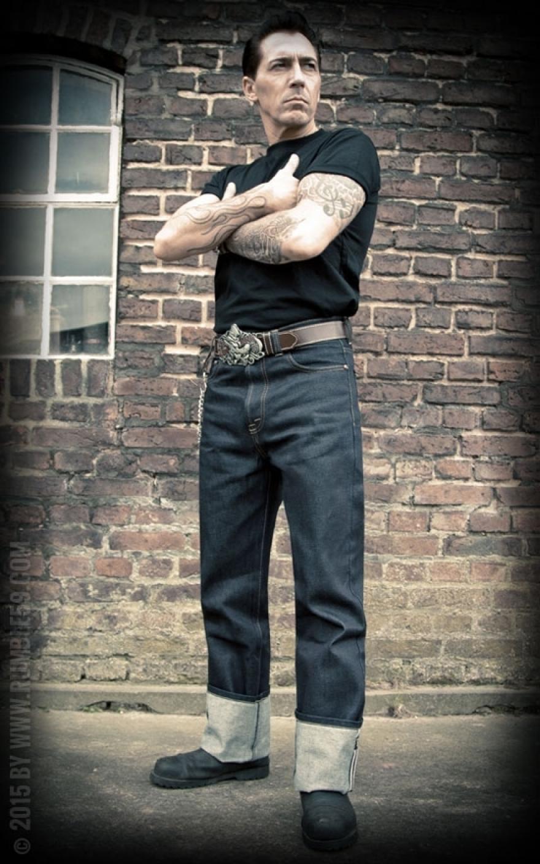 rumble59 jeans raw denim rockabilly denim 50s style. Black Bedroom Furniture Sets. Home Design Ideas