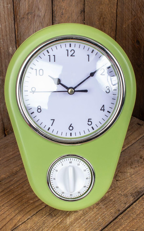 horloge de cuisine avec minuterie rockabilly rules. Black Bedroom Furniture Sets. Home Design Ideas