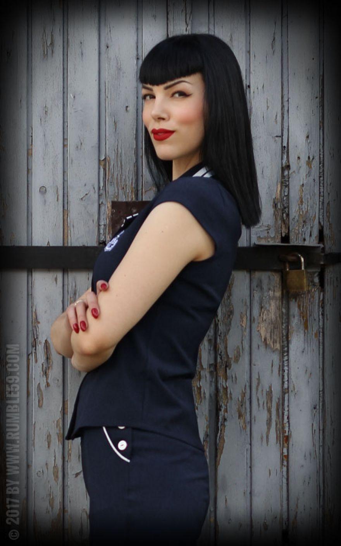 01e1ae2fa779 Rumble59 Ladies - Sailor Bluse | Rockabilly Rules