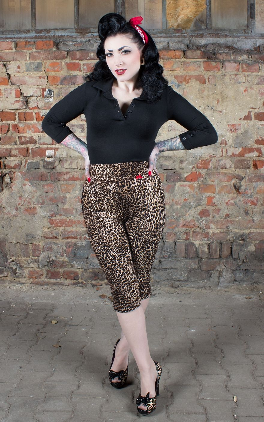 a34c004bb409 Rumble59 Leopard Capri The wild one | Rockabilly Rules