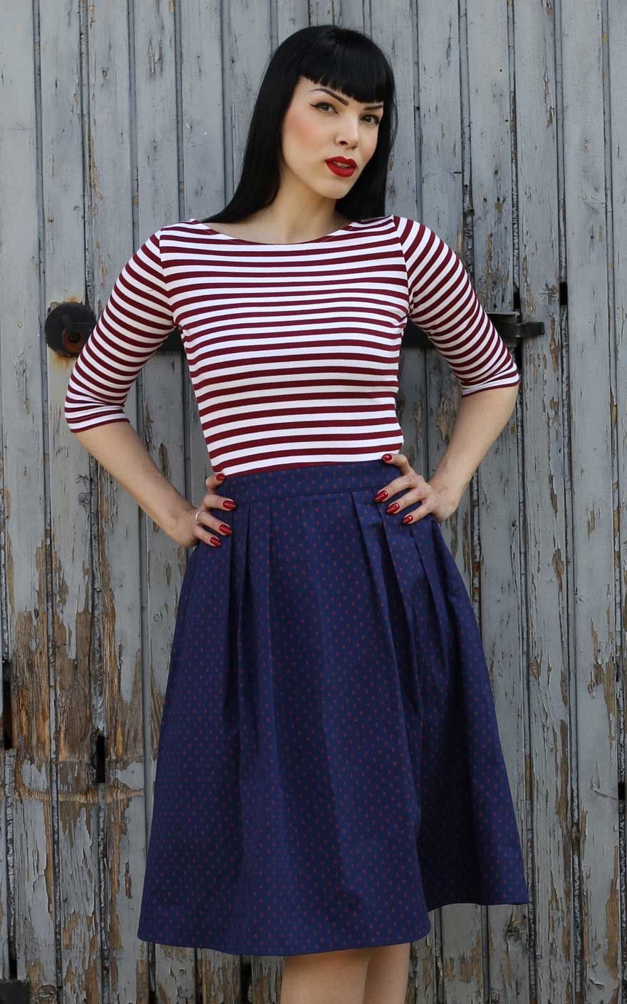 f20d4aa943887 Rumble59 Sailor Swing Dress - All hands on deck! | Rockabilly Rules