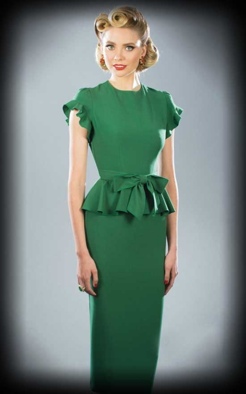 Stop Staring Willow, tannengrün   Vintage Kleid