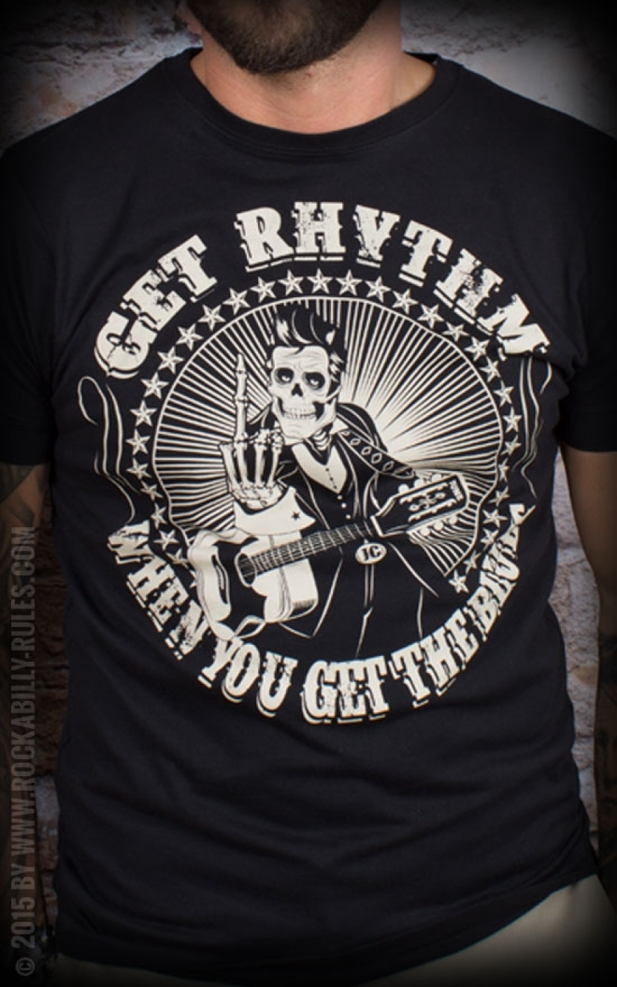 T Shirt Get Rhythm When You Get The Blues By Mexican Mob