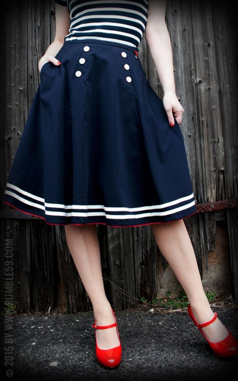 Petticoat skirt ahoi sailor buy vintage skirts online for Sofa 50er jahre stil