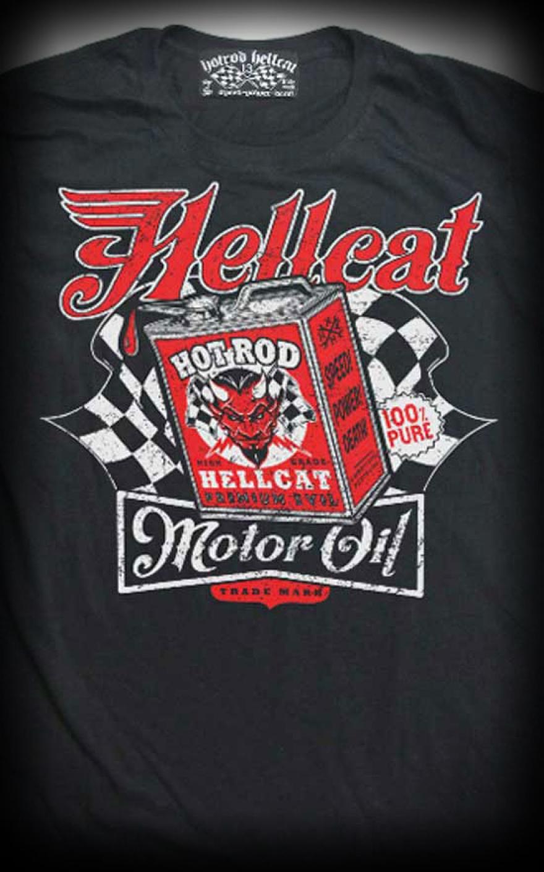 Design t shirt motor - T Shirt Hotrod Hellcat Devil Motor Oil