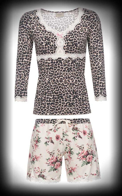 Vorschau von am besten bewertet neuesten riesige Auswahl an Vive Maria - Short Pyjama Wild Romance, leo-creme