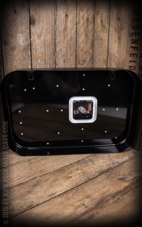 wanduhr plattenspieler schwarz f r den richtigen retrolook. Black Bedroom Furniture Sets. Home Design Ideas