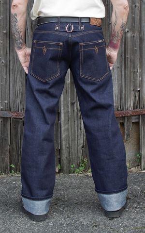 Rumble59 Jeans - RAW Selvage 21oz Denim - Blue Steel