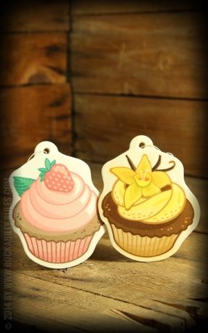 Airfreshener Set Cupcake - Vanille und Erdbeere