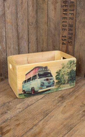 3-er Set Holzkisten VW T2
